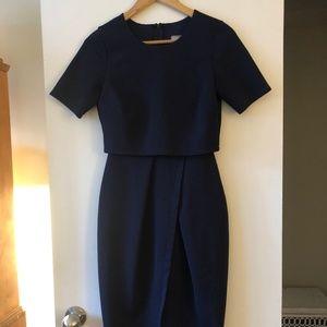 Navy ASOS Midi Dress